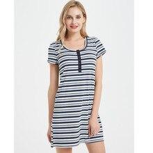 Uguest Women Striped Dress Cute Lady A Line O Neck High Quality