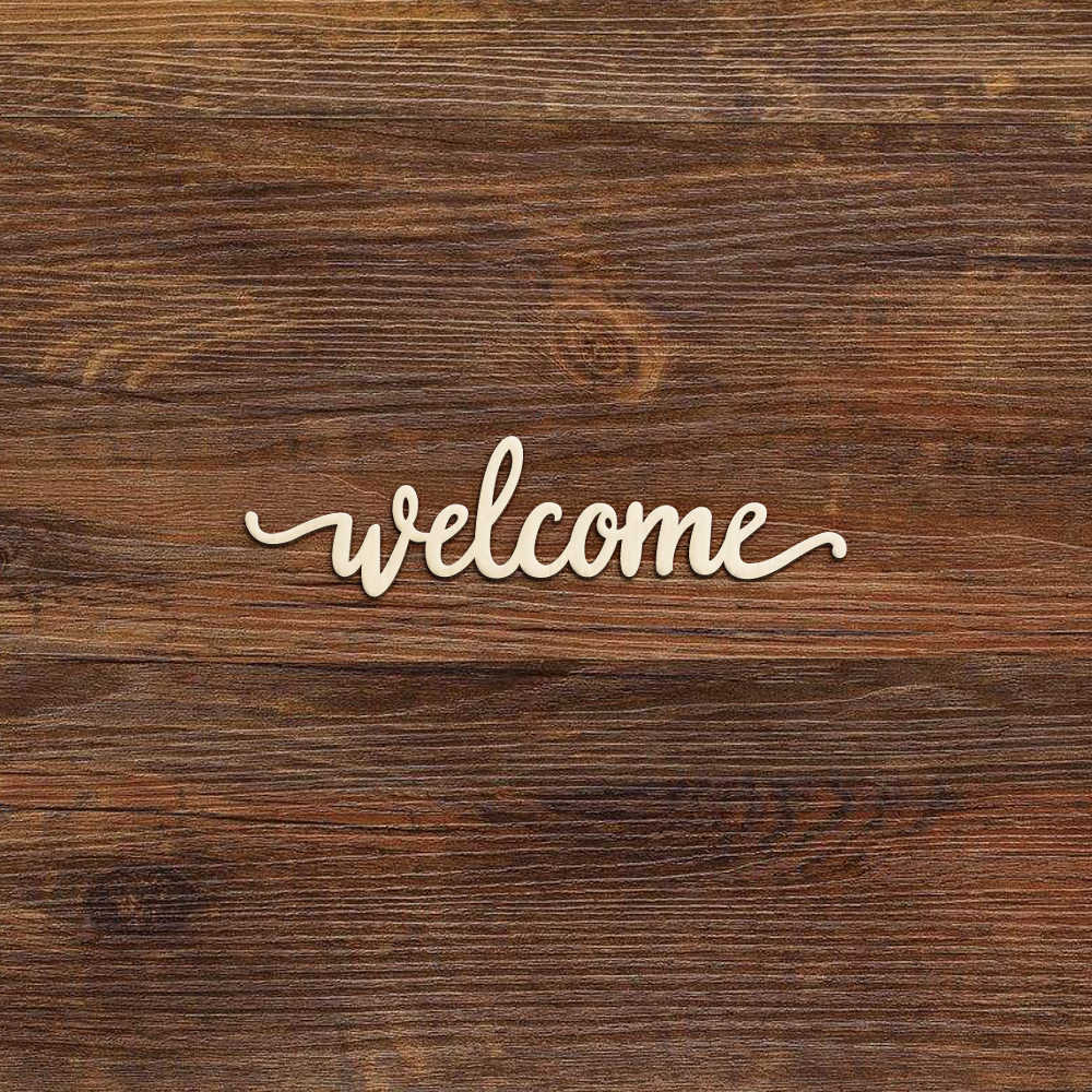 10pcs Welcome Wood Sign Welcome Wooden Cutout Cut Out Farmhouse Farm