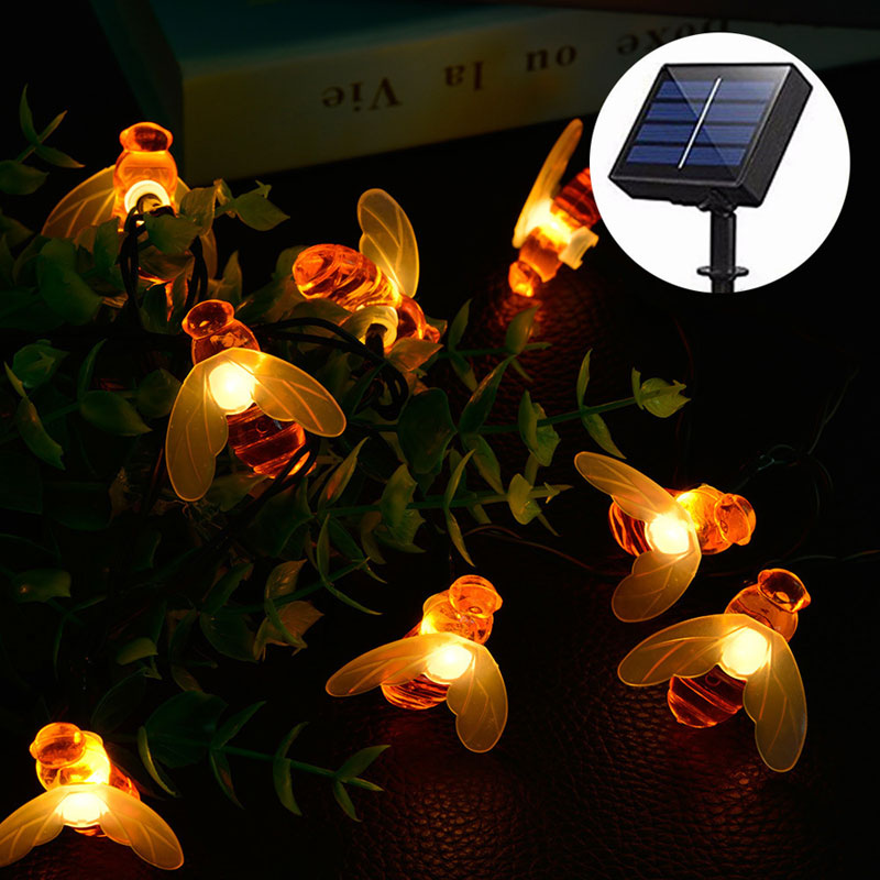 20/30 LED Honey Bee LED Lights Decoration for Garden Waterproof Outdoor String Lights Lawn Yard Fence Christmas Decorations 3520/30 LED Honey Bee LED Lights Decoration for Garden Waterproof Outdoor String Lights Lawn Yard Fence Christmas Decorations 35