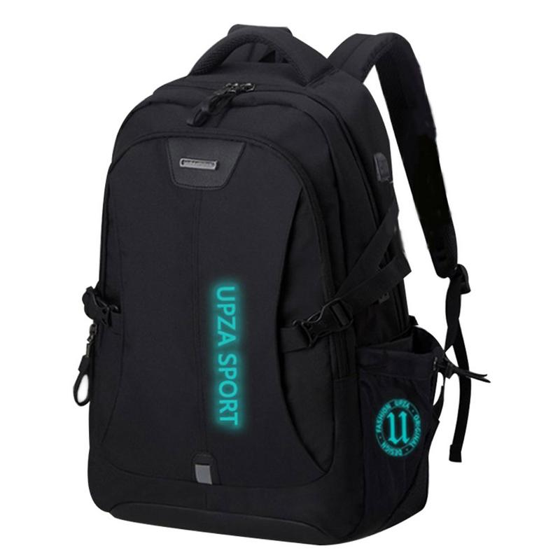Tourist Leisure Business Computer Bag With USB Charging Port Headphone Port Night Light Anti-theft Shoulder Bag