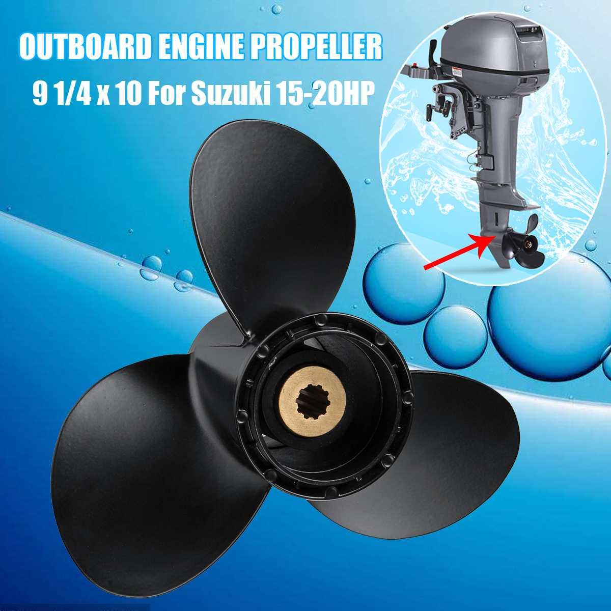Marine Boat Engine Propeller 9 1/4 X 10 Outboard Engine Propeller For Suzuki 15-20HP