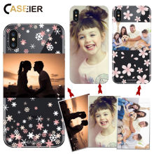 CASEIER DIY Customized Design Photo Phone Case For iPhone X 7 8 6 6s Plus Soft TPU Cover Samsung S8 S9 Capas