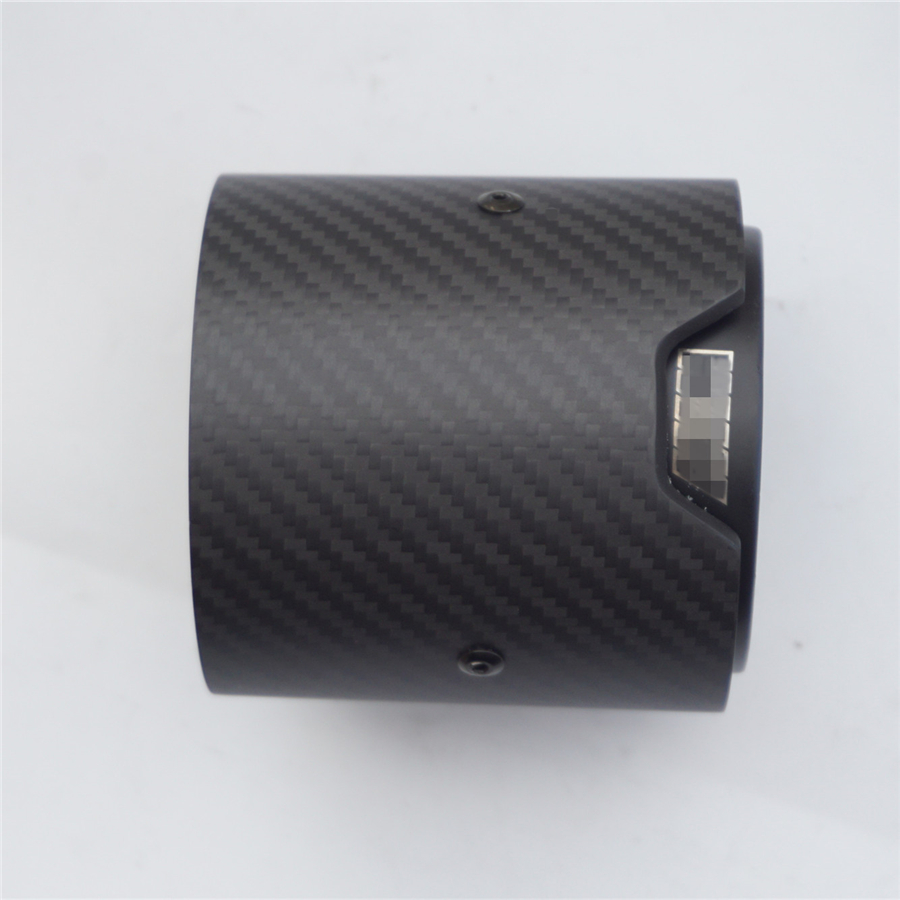 1 Piece Matte Carbon Fiber Exhaust tip 71MM INLET OD 93MM OUTLET OD For BMW M Performance in Exhaust Headers from Automobiles Motorcycles