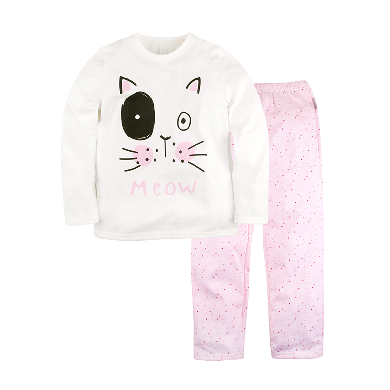 BOSSA NOVA Cartoon Children's Pyjamas White&Pink 362K-161 kid clothes children clothing children s pajama bossa nova 362k 161m children s sets white woof