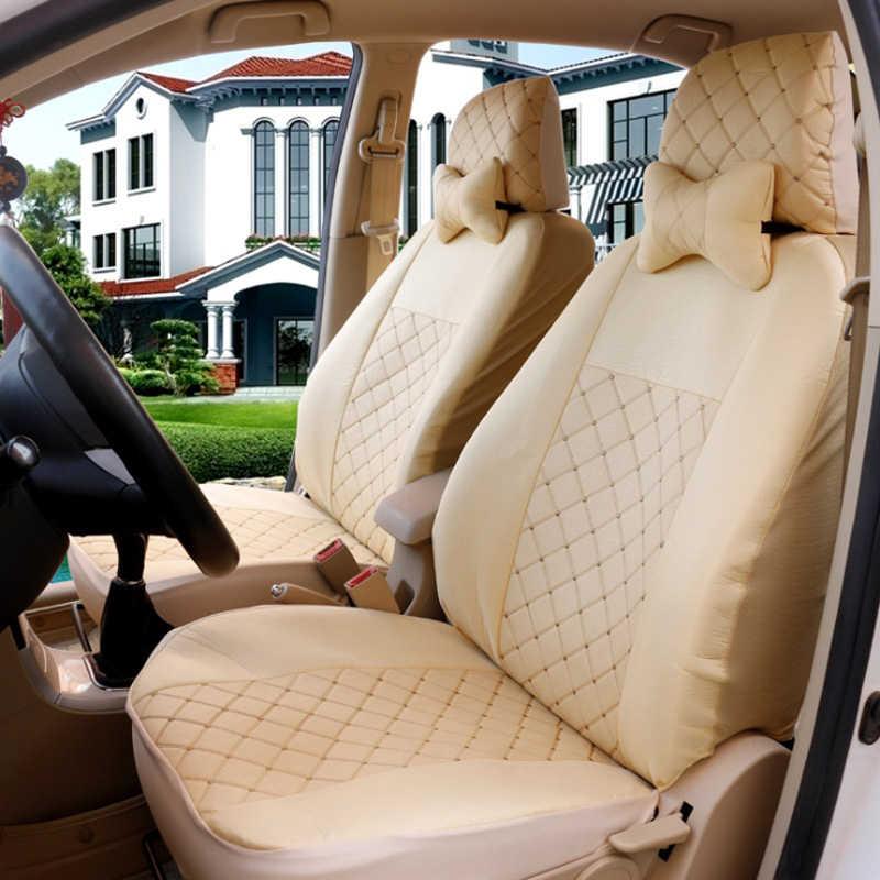 1 مجموعة العالمي السيارات مقعد غطاء خمسة مقاعد سيارة كرسي يغطي الجبهة الخلفية واقية حالة صالح فورد التركيز فولكس واجن باسات