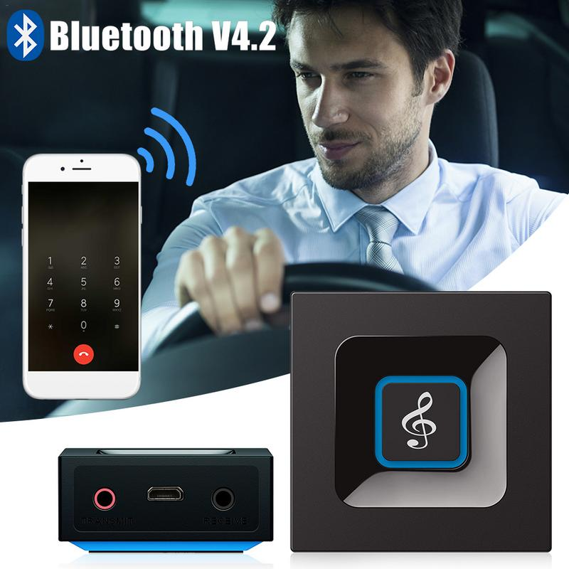 2019 Fashion Hifi Wireless Audio Bluetooth Receiver And Transmitter Portable Adapter With 3.5mm Audio Input And Output For Tv Mp3 Pc Speaker Buy One Get One Free