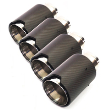 4pcs/lot Universal Matte Black Real Carbon Fiber Car Exhaust End Tips for BMW inner 63mm 18302355889 / 18 30 2 355 889 2355889