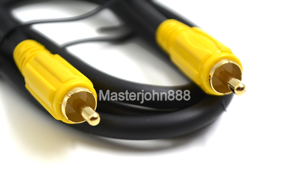 Choseal Stereo Digital Coaxial Audio Video RCA 1M Gold-Plaed Pin For Hifi/AV/TV/CD/DVD/Video