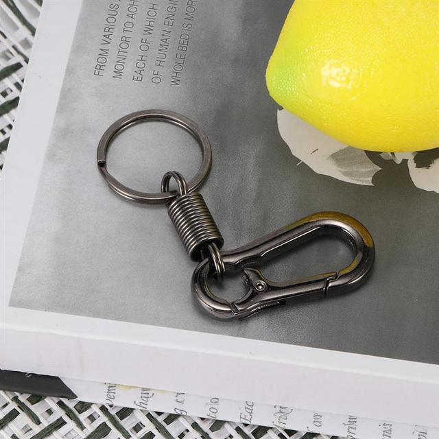 AOZBZ Car Keychain Simple Strong Carabiner Shape Keychain Climbing Hook Key Chain Rings Stainless Steel Man Gift Auto Interior