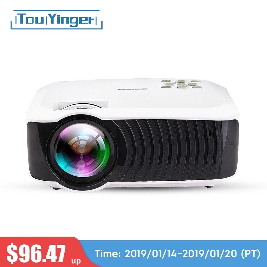 Touyinger T4 мини светодиодный проектор full hd 2400 люмен 720 p ЖК-дисплей дома микро видео кинотеатр переносной Бимер USB HDMI SD VGA 3d проектор