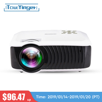 Touyinger T4 mini LED projector full hd 2400lumen 720p LCD home micro video theater protable beamer USB HDMI SD VGA 3d projector
