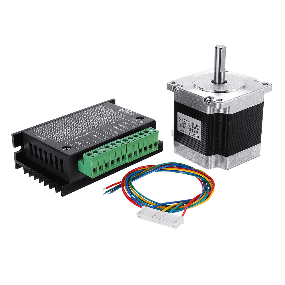Nema 23 23HS5628 2.8A Two Phase 8mm Shaft Stepper Motor With TB6600 Stepper Motor Driver For CNC Part 3D Printer nema 23 stepper motor 57mm 3a drive tb6600 motor for laser cnc router 3d printer