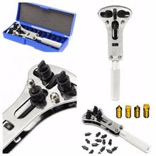 Watch Repair Tool Kit Watchmaker Back Case Opener Wrench Cover Remover Adjustable Watch Back Case Wrench Opener Repair Screw professional snap on watch back case opener watch repair tool remover adjustable relogio herramientas gifts for watchmaker