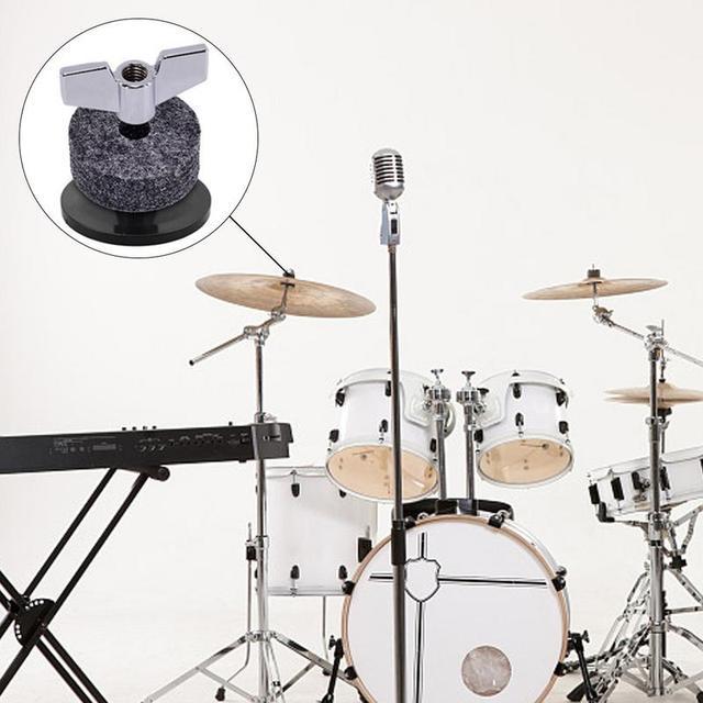 18pcs Drum Set Replacement Parts Accessories ( 3pcs Cymbal Sleeves + 3pcs Wing Nuts + 3pcs Washers + 9pcs Wool Felt Pads ) 5