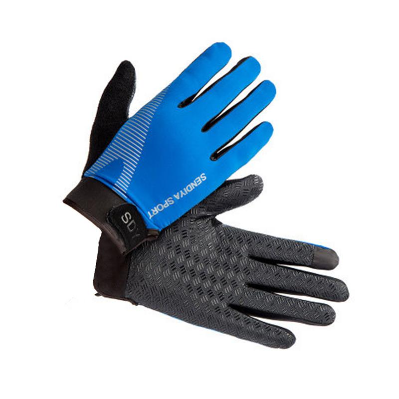 DuShow Women Cycling Gloves Full Finger Touchscreen Bike Gloves Long Gel Padded for Climbing Hiking Camping Motorcycle