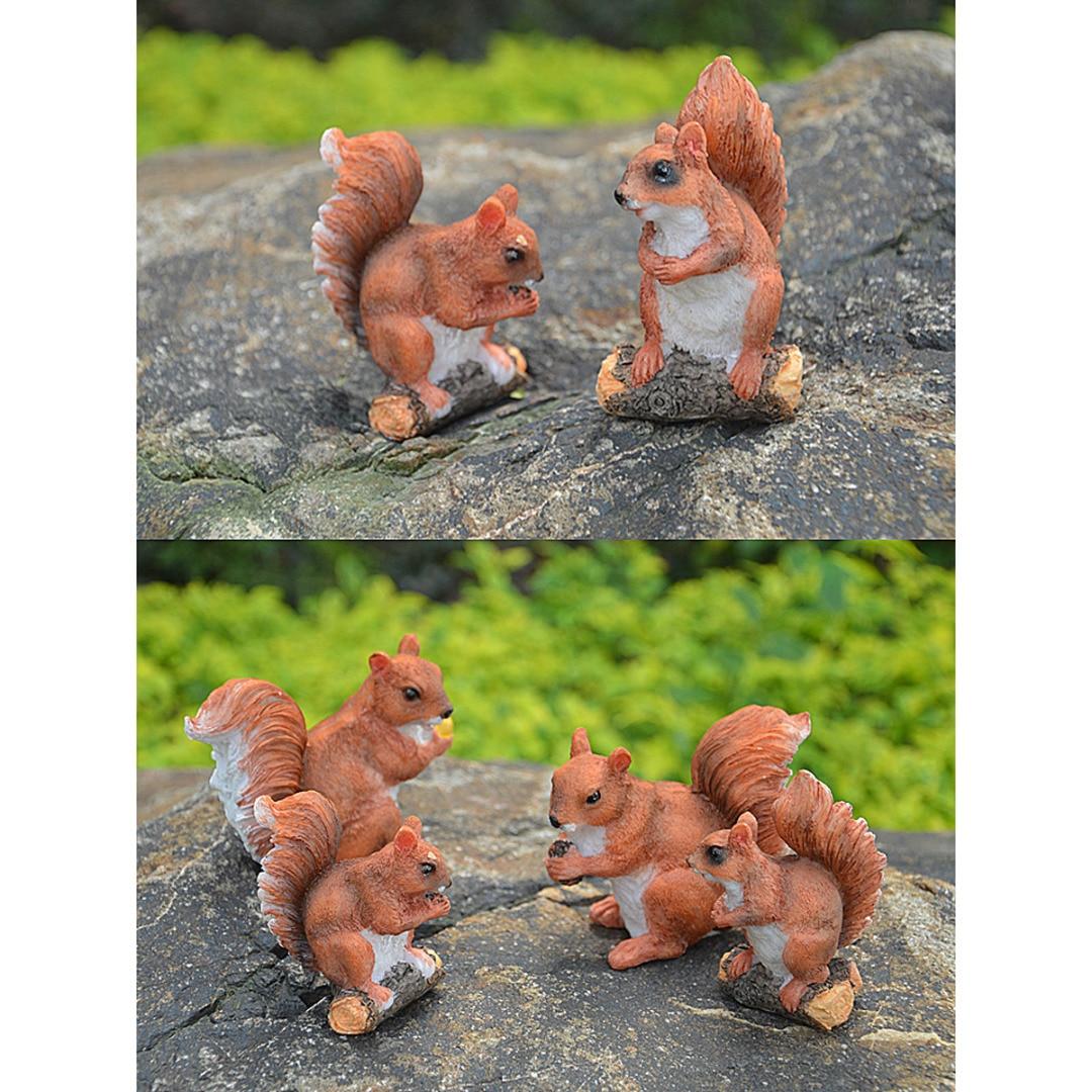 Resin Squirrel Sculpture Home// Garden Decor Collectible Craft Ornament Left