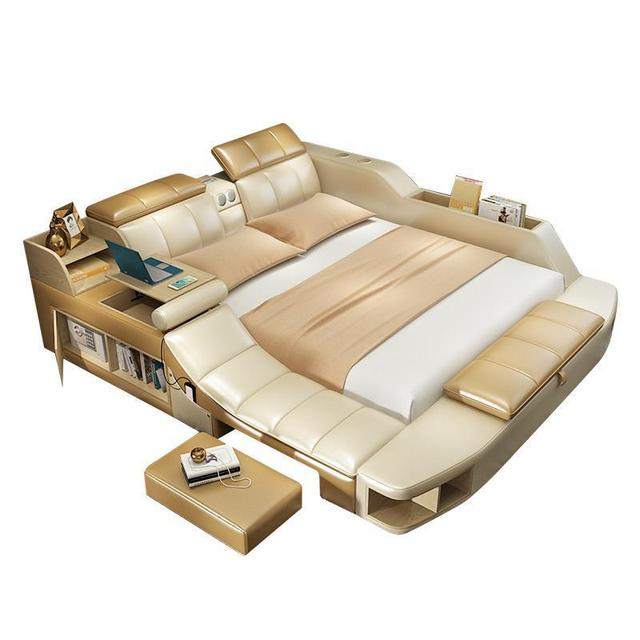 Mobili Yatak Odasi Mobilya Modern Letto A Castello Kids Leather Mueble De Dormitorio Moderna Cama bedroom Furniture Bed