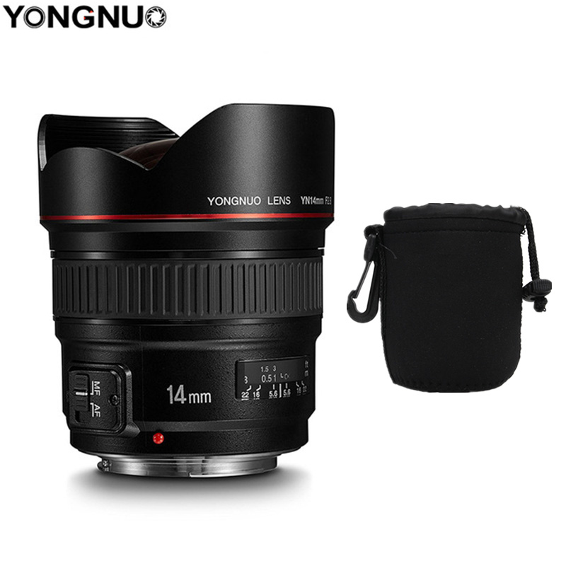 YONGNUO 14mm F2.8 Ultra-wide Angle Prime Lens YN14mm Auto Focus AF MF Metal Mount Lens for <font><b>Canon</b></font> <font><b>700D</b></font> 80D 5D Mark III IV image