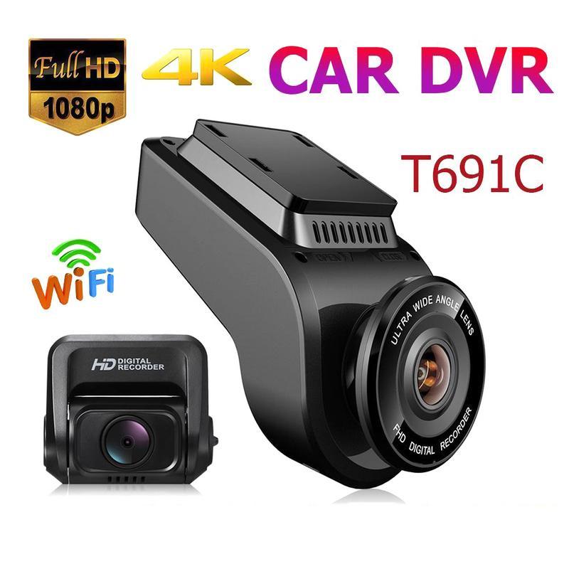 Accessoires de voiture DVR/Dash Caméra Nouvelle HD 2160 P DVR de voiture Double Lentille caméra de tableau de bord Véhicule 4 K GPS WiFi enregistreur vidéo