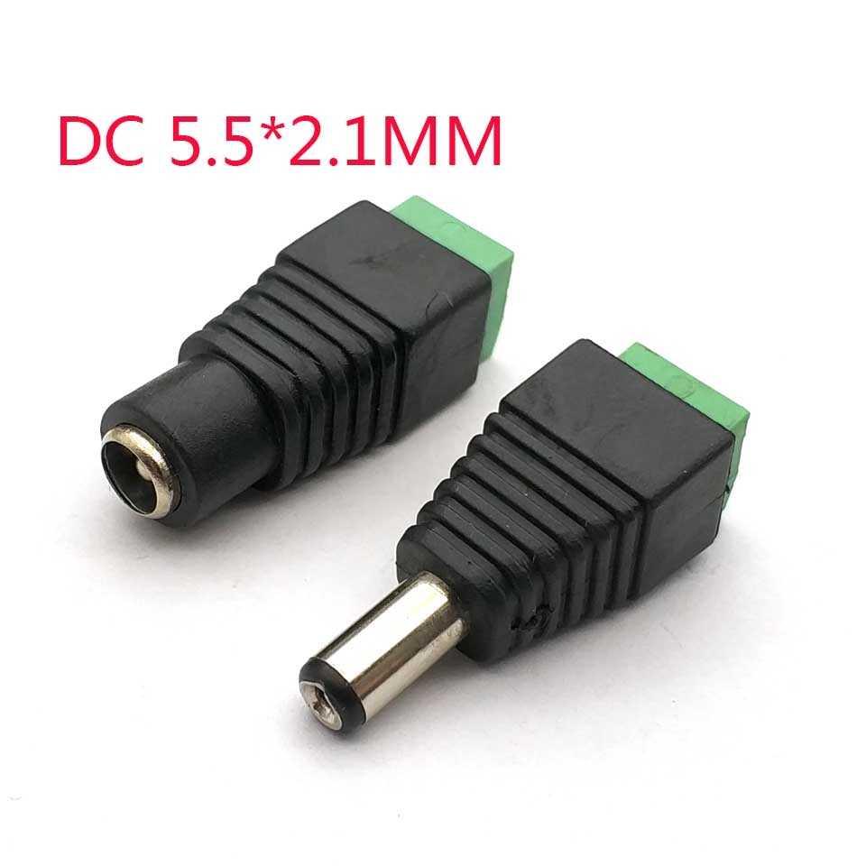 2.1X5.5 5.5*2.1mm DC güç dişi fiş adaptör jak konnektör fişi