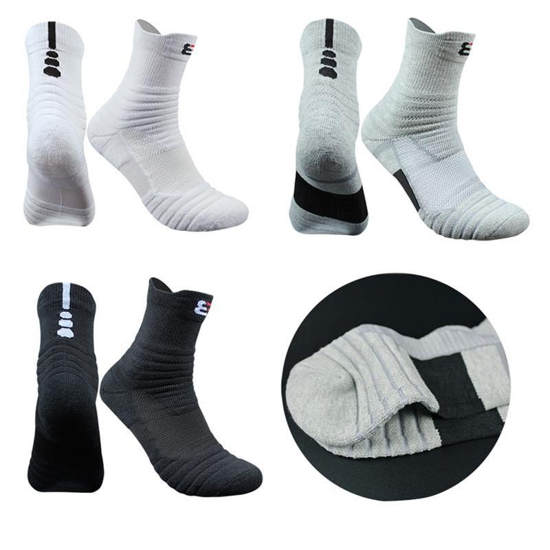 Brand New Outdoor Sports Basketball Socks Men Football Cycling Socks Compression Socks Cotton Towel Bottom Non-slip Men's Socks