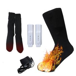 Warm Cotton Electric Shifting Sock Temperature Controllable Heated Thermal Socks Rechargeable Lithium Battery Winter Foot Warmer