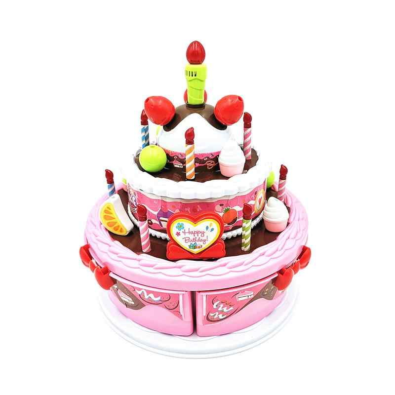 Electric Music Cake DIY CAKE Play House Cutlery Birthday Candle Can Blow Out The Recording