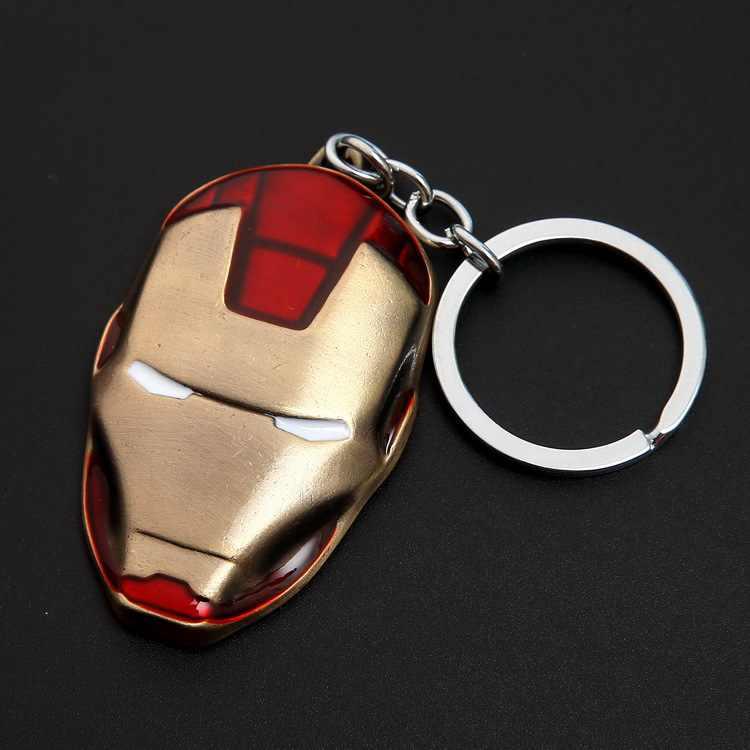 1 Chiếc Mặt Nạ Iron Man Móc Khóa Marvel Avengers Anime Hình Siêu Anh Hùng Mặt Dây Chuyền Chìa Khóa Xe Móc Khóa Nam Chìa Khóa thiền Trượng Tặng
