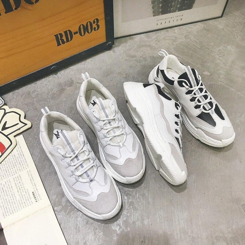Selvagem 2 Sapatos 3 Calçados 5 Casuais Primavera Do 1 4 Versão Esportivos Fundo Coreana Dos Runn Casal Grosso Respirável Aumentou Maré Homens qnvZqSXTwH