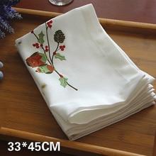 Новые белые кружевные салфетки для стола с вышивкой совы, рождественские коврики, подстаканники для чашек, подстаканники, чайные полотенца для дома, кухни, декор стола