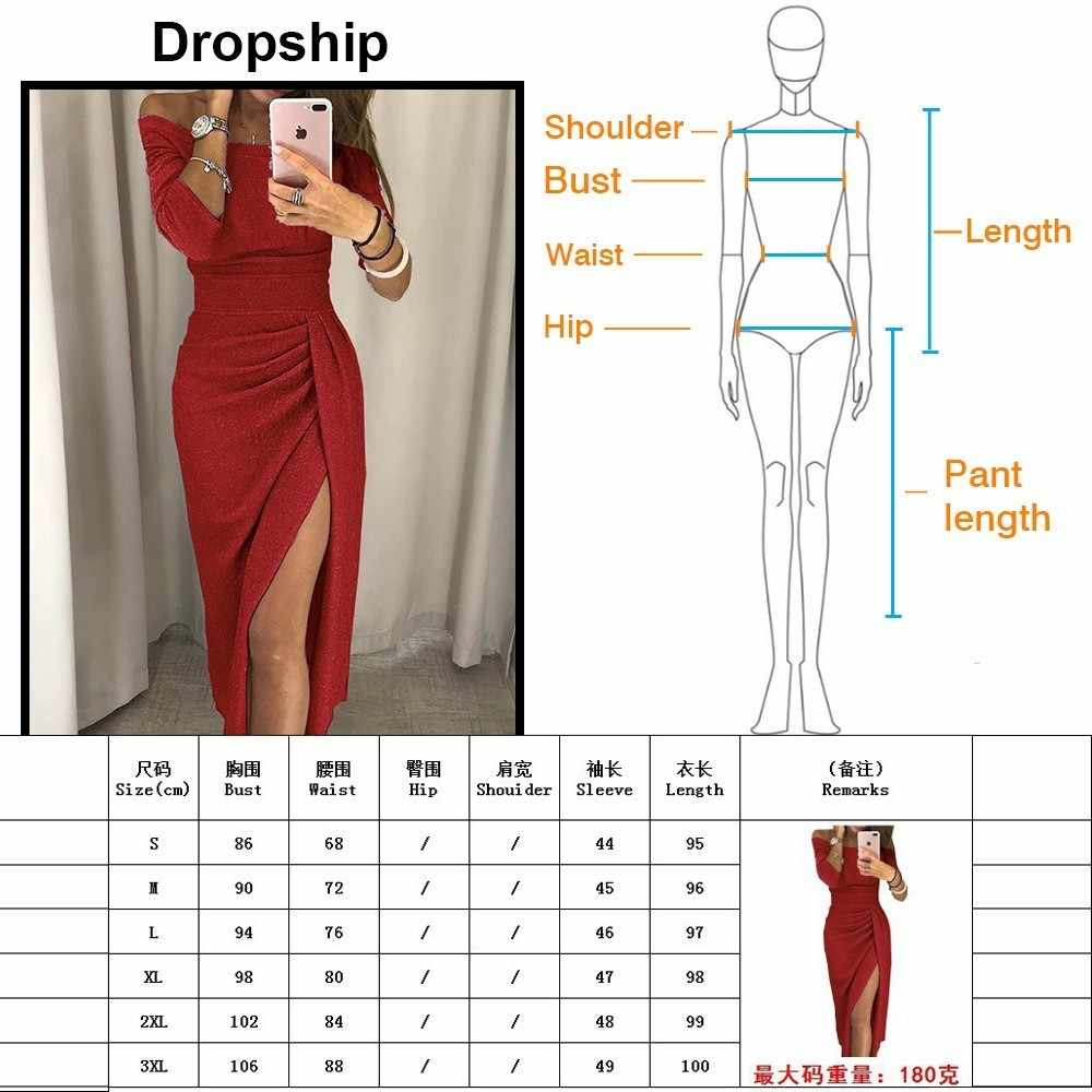 33f76af34ec ... Dropship Dress Women Bodycon Sexy Dresses Party Long Maxi Sequin Night  Bandage Plus Size Winter Black