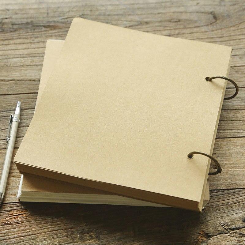 Nouveau journal rétro papier Kraft bloc-notes bobine/spirale bloc-notes juridique A4 carnet de croquis Graffiti blanc créatif cahier WJ-XXWJ442-abordable