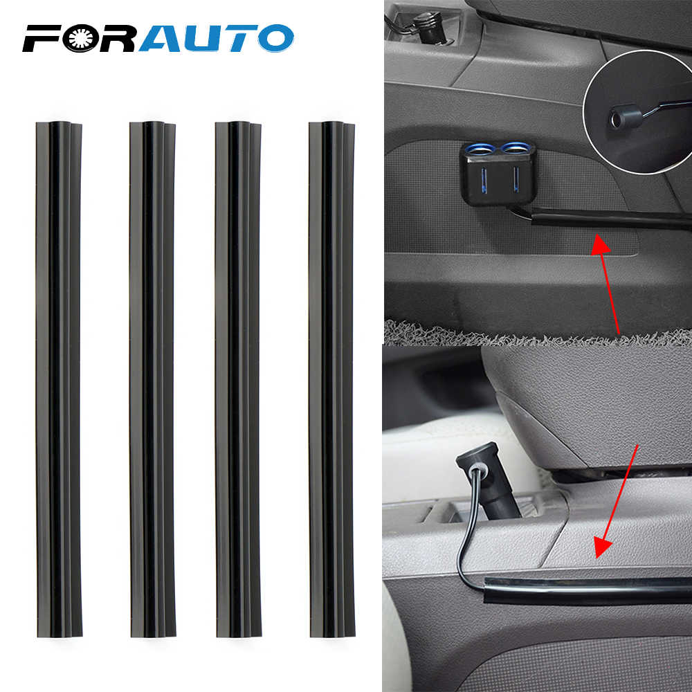 FORAUTO 4 Pieces/set Concealed Wire Cover Line Sleeve Car Cable Clips Organizers Vehicle Beam Clamp Car-styling Auto Accessories