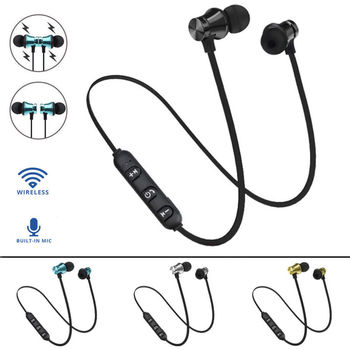 XT-11 Magnetic Wireless Headphones Bluetooth Earphone Stereo Sports Wireless Earbuds Gaming Headset With Mic for iPhone Xiaomi magnetic attraction bluetooth earphone headset waterproof sports 4.2