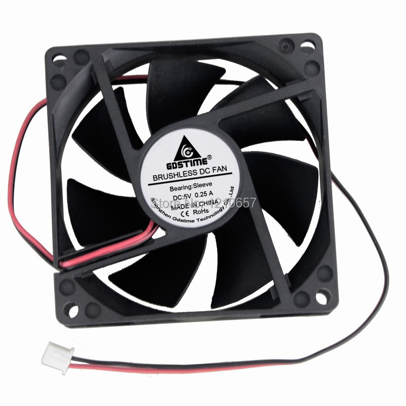 Gdstime 80mm x 80mm x 10mm DC 5V 0.25A Brushless Cooling Fan