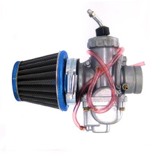 Motorcycle Carburetor and 43mm Air Filter for Yamaha YZ80 DT125 AT1 AT2 Enduro CT1 CT2 CT3