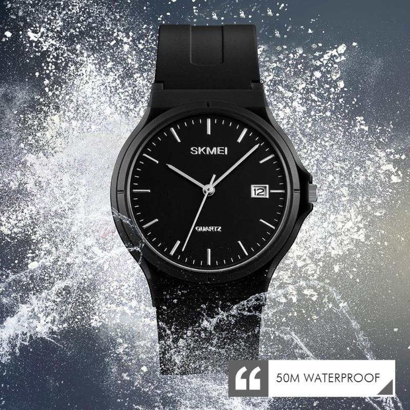 SKMEI Fashion Casual Ladies PU Strap Analog Watches Calendar Women Quartz Wristwatches Waterproof Relogio Feminino