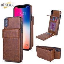 KISSCASE Leather Wallet Case For iPhone X XS MAX XR PU Phone Case For iPhone 7 8 6 6s plus 5 Card Slot Holder Back Cover Funda стоимость