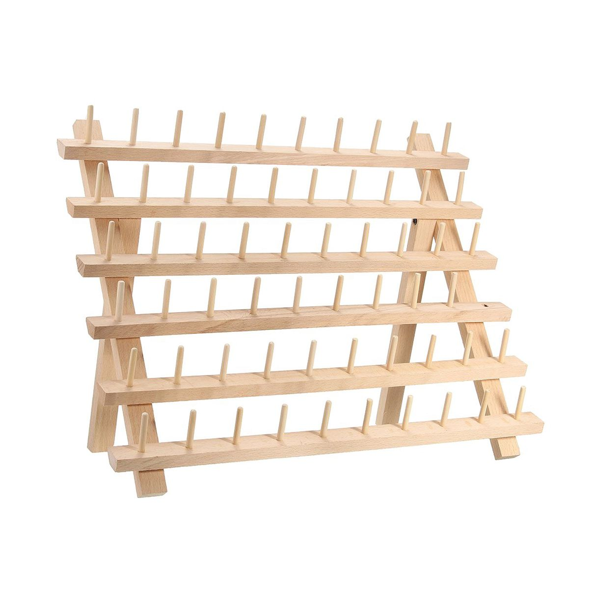 JEYL 60 Spool Wooden Thread Rack And Organizer For Sewing Quilting Embroidery