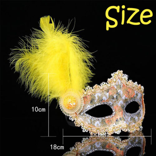 Masquerade Venetian Costume Eye Party Half Face Plastic Crown Princess Mask New Polyester+Feather Fashion Mask 18*10cm