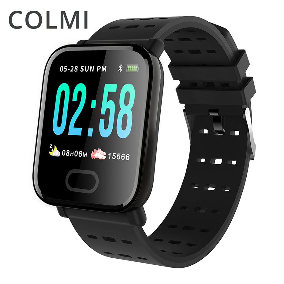 COL mi reloj inteligente CA6 impermeable Bluetooth cardíaca sangre presión rastreador de actividad Smartwatch para Xiao mi Android IOS teléfono