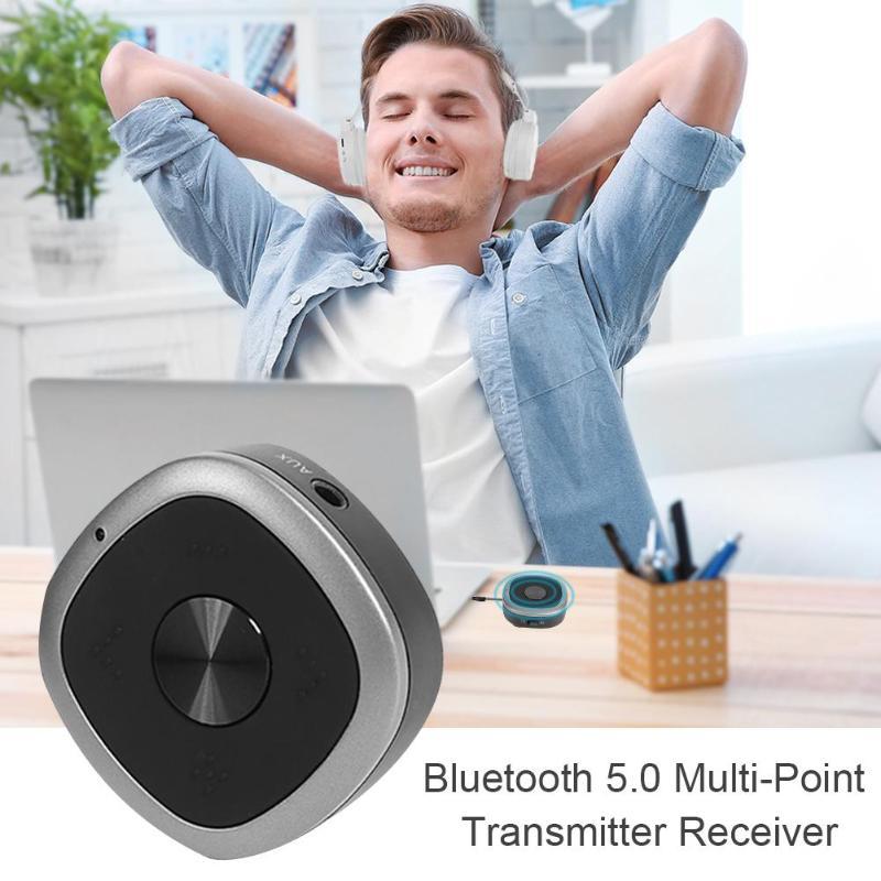 Récepteur Portable Bluetooth 5.0 transmetteur Multipoint récepteur APTX musique adaptateur sans fil pour accessoires casque de voiture