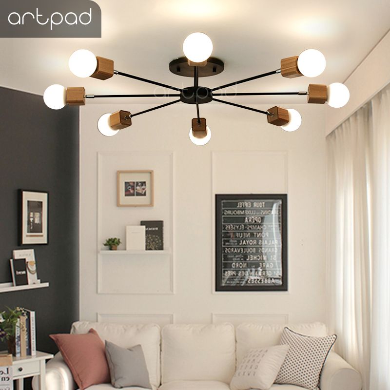 Candid Artpad Country Style Modern Chandelier 3/5/8 Heads E27 Edison Bulb Art Iron Ceiling Chandelier Lighting Fixture Living Room Led Do You Want To Buy Some Chinese Native Produce? Lights & Lighting