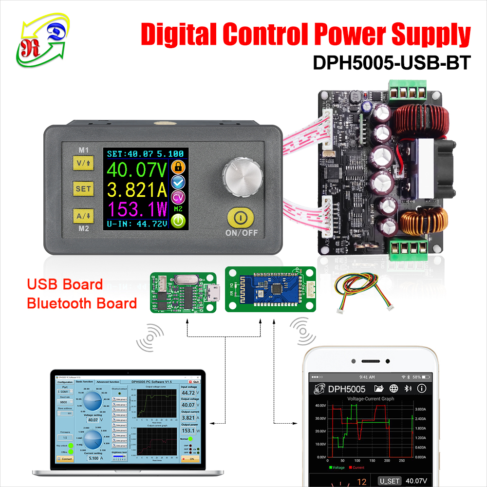 hight resolution of rd dph5005 buck boost converter constant voltage current programmable digital control power supply color lcd