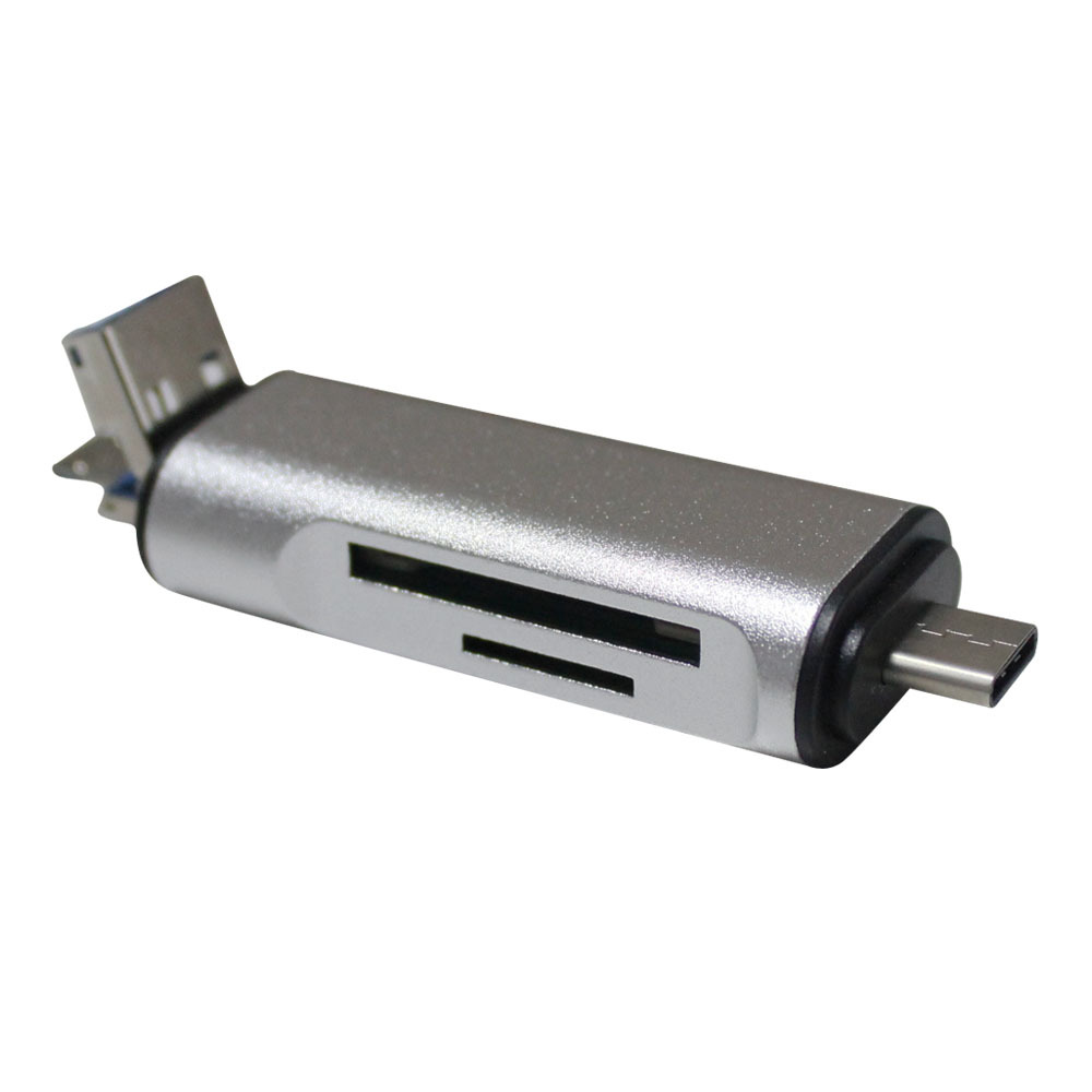 3 In 1 Multi-Function Usb 3.0 Usb Micro-Usb <font><b>Type</b></font> <font><b>C</b></font> Tf <font><b>Sd</b></font> <font><b>Card</b></font> <font><b>Reader</b></font> <font><b>For</b></font> Pc <font><b>Mobile</b></font> <font><b>Phone</b></font> Android Otg Adapter image