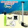 Mini Scuba Sauerstoff Luft Tanks Tauchen Ausrüstung für Schnorcheln Unterwasser Atmen Regler Zylinder Getriebe Zubehör