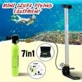 Mini tanques de oxígeno de buceo equipo de buceo para Snorkeling regulador de respiración subacuática accesorios de engranaje de cilindro