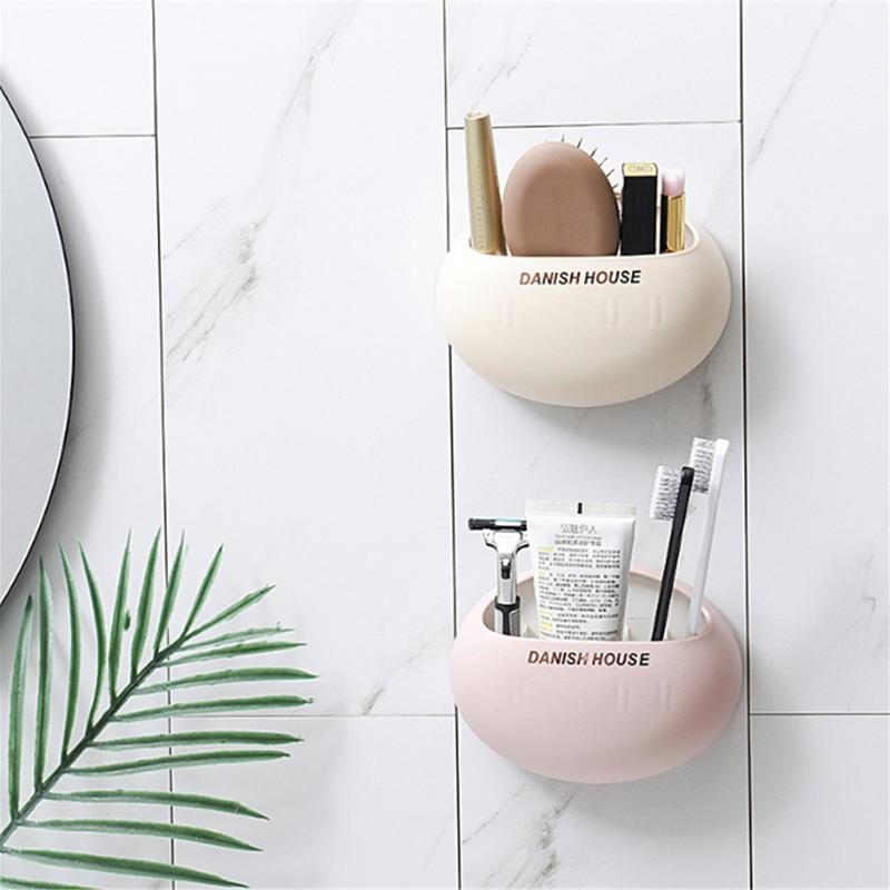 1PCS Cute Eggs Design Toothbrush Holder Wall Suction Cups Shower Holder Bathroom Accessories Makeup Tool Organizor Rack image