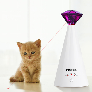 Image 1 - 1PC Diamond Laser Cat Toy Rotating Electric Interactive Pet Laser Pointer Training Supplies Pet Toy For Cat Kitten Pet