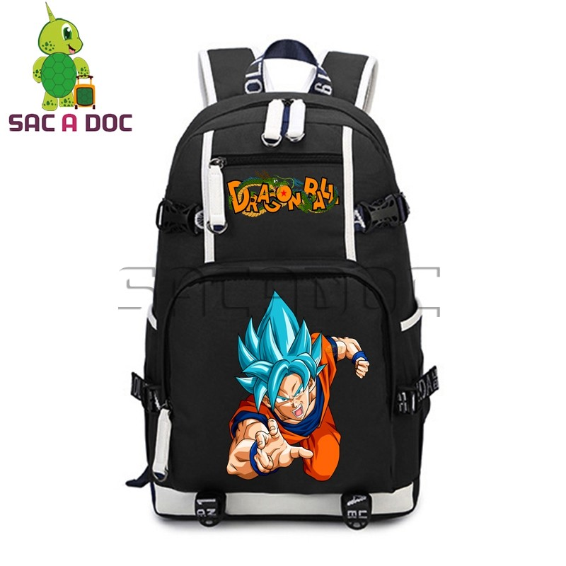 Anime Dragon Ball Laptop Backpack Fighting Super Saiyan Goku Vegeta Backpack Travel Bag Teens Large Capacity Canvas BackpackAnime Dragon Ball Laptop Backpack Fighting Super Saiyan Goku Vegeta Backpack Travel Bag Teens Large Capacity Canvas Backpack